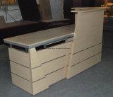 Bauholz-Büro-Empfang-Schreibtisch-Sekretär-Empfang-Schreibtisch