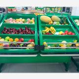 Gute Qualitätssupermarkt-Acrylgemüse-und Frucht-Zahnstangen-Bildschirmanzeige-Regal