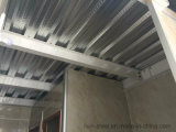Casa prefabricada fuerte del marco de acero de dos suelos con las lanas de cristal