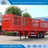 Della Cina della fabbrica di animali di trasporto della rete fissa del palo rimorchio semi con 3/4 di asse