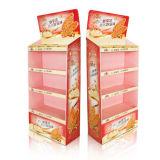 Présentoir de sol en carton Rack personnalisé pour les collations/l'alimentation, présentoir de sol en carton