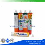 Tubo de empaquetado plegable de aluminio vacío de la crema de la mano del cuidado de piel de la carrocería de los cosméticos