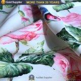 Los pequeños MOQ 100% poliéster Impresión Digital de la flor de tela vestido