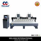 Hoge snelheid 8 CNC van de As de Houten Machine van de Gravure (vct-2030w-2z-8H)