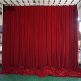 El tubo y drapeado caso telón de fondo, la cortina de tela 100% de bloque de la luz