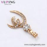 31969 Xuping Gold-Plated Collar Colgante de joyería de moda con el corazón de cristal Diseño Zircon