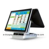 """Registratore di cassa capacitivo dello schermo di tocco del doppio di alta qualità Icp-Ew10s9 per il sistema/supermercato/ristorante/al minuto di posizione (15 """" +15 """")"""