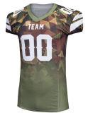 不足分の袖の通気性のスエットシャツのカスタム昇華プリントサッカーのジャージーのアメリカン・フットボールの摩耗