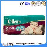 Heet verkoop de Luiers van de Katoenen Baby van Ollem Diaposable voor het Land van Irak het Midden-Oosten