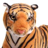 Jouet mou réaliste animal de peluche de tigre bourré par simulation