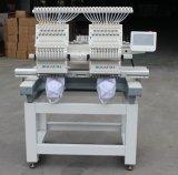 Doble jefes máquina de bordar informatizada de alta velocidad similar a Tajima
