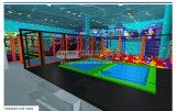 Beifall Amusement Multifunktionskind-Trampoline-Park für Verkauf