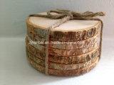 Práctico de costa de madera natural rústico de la rebanada de la insignia de encargo