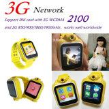 Kinder 3G intelligente GPS-Verfolger-Telefon-Uhr mit videoaufruf-Kamera