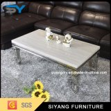 Sala de estar TV y mesas de centro de mármol de la mesa de centro