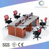 Modern Drawers (CAS-W1877)를 가진 고아한 4 Person Office Workstation
