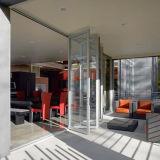 Стекло двери Bi-Folding алюминия с широким углом обзора, Bifold двери Складные двери