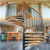 Escalera espiral para la escalera del vidrio Tempered de la casa