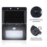 Die 16 LED-Bewegungs-Fühler-imprägniern Solarwand-Lampe IP65 energiesparende Garten-Sicherheits-Lampe