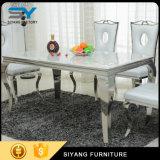 Diner des meubles dinant le Tableau en verre réglé d'acier inoxydable de Tableau dinant
