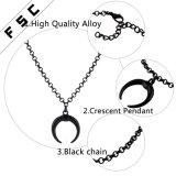 قرن بوري مدلّاة أسود خانق سبيكة مجوهرات عقود