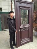 문 헤드를 가진 별장 두 배 잎 알루미늄 문