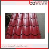 Colorear la hoja acanalada revestida del material para techos