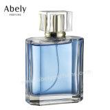 Bouteille de parfum en verre personnalisée pour le parfum initial d'hommes