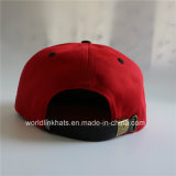 Tampão liso feito sob encomenda do chapéu de basebol do Snapback de Camo Bill Hip Hop com correção de programa de couro