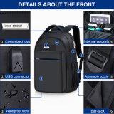 Sac à dos en nylon d'années de l'adolescence de sac de collège avec le connecteur USB