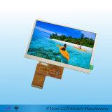 módulo Innolux/Hannstar del interfaz TFT LCD del RGB de los contactos de 5inch WQVGA 40