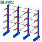 Entrepôt de stockage de matières premières de l'acier Cantilever étagère rack simple face