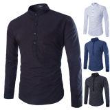 Chemise mince de mâle d'ajustement de robe de chemise d'impression d'hommes d'affaires Long-Sleeved de chemise