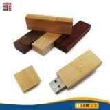 Palillos de destello de madera naturales del USB del precio bajo del OEM para la promoción