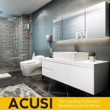 Gabinete de banheiro de madeira de venda quente do preto moderno da laca (ACS1-L64)