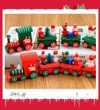 Подарки поезда рождества деревянные для детей