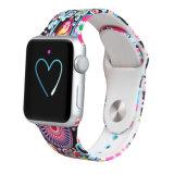Cinta de relógio colorida do silicone do logotipo feito sob encomenda por atacado da impressão para Apple