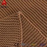 Hot Sale plaine tricot couleur par câble de jeter de l'acrylique couverture avec Tassel