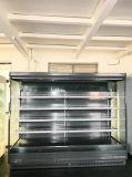 Supermarkt-Werbungs-geöffneter Bildschirmanzeige-Kühler mit LED-Beleuchtung für alles justierbare Fach