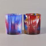 Стекло свечки краски брызга пустое покрашенное Jars контейнеры