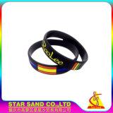 Wristband del silicone di Debossing di marchio reso personale alta qualità, braccialetto su ordinazione del silicone