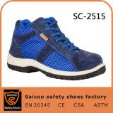 De hoge die Schoenen van de Veiligheid van de Laarzen van het Werk van de Besnoeiing in Guangzhou China Sc-2515 worden gemaakt