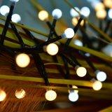 Cadena de petardo Iluminación, resistente al agua blanca cálida luz de Navidad 9.8FT 400 LED 8 modos para interiores, fiesta al aire libre, Año Nuevo