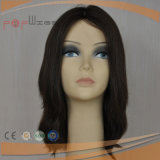 Perruque en soie à extrémité élevé de cheveu européen première (PPG-l-0888)