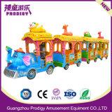 Viaje de diversiones Trackless Mini Eléctrico Set Tren de carretera para la venta