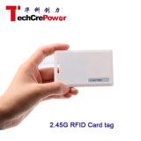O animal de estimação longo 2.45g da escala IP65 da leitura Waterproof o cartão ativo de RFID