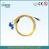 Câble optique de joncteur réseau de fibre de MPO-MPO assemblant Patchcords