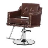 Anreden des Stuhls mit haltbarem aufgetragenem Chrom-Armlehnen-Salon-Herrenfriseur-Stuhl