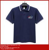 주문을 받아서 만들어진 면 아이들의 교복 폴로 셔츠 (P51)