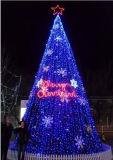 Luz de iluminação da decoração do Natal da árvore do motivo do Natal do diodo emissor de luz 5m